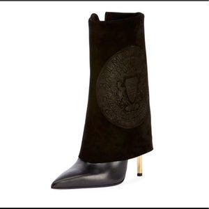 Balmain Babette Suede Logo Boots